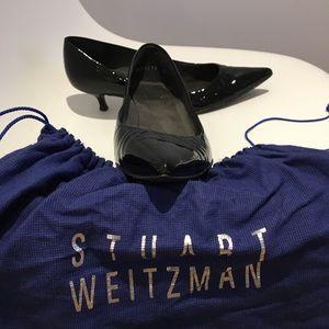 Patent leather kitten heels Stuart Weitzman shoes